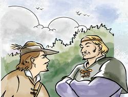 Historia de cómo Pequeño John se unió a Robin Hood