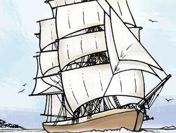 Barcos y banderas piratas
