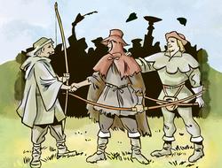 Robin Hood gana la flecha dorada del alguacil