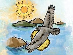 Cuervo y el diluvio