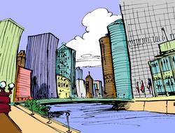 Divers endroits de la ville