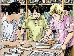 misterio de la biblioteca de Villa Grande, El