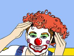 maquillage du clown, Le
